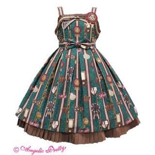 Angelic Pretty - Chocolate Rosetteシリーズ ジャンパースカート+カチューシャ