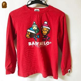 アベイシングエイプ(A BATHING APE)の【BAPE KIDS】BABY MILO ロングT サイズ120(Tシャツ/カットソー)