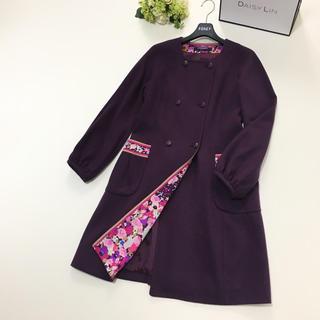 LEONARD - 美品 レオナール  LEONARD 最高級 ウール 花柄 ロング コート