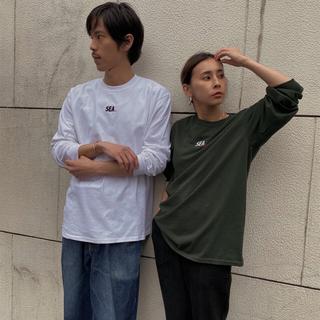 アメリヴィンテージ(Ameri VINTAGE)のAMERI×WIND AND SEA  ロングTシャツ ホワイト M 完売品(Tシャツ/カットソー(七分/長袖))