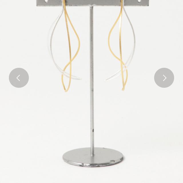 agete(アガット)のTONE SELECT シルバー ゴールド カラー ピアス 大ぶり レディースのアクセサリー(ピアス)の商品写真