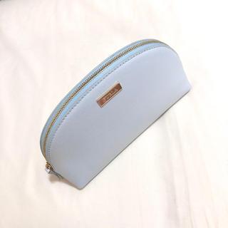 フルラ(Furla)の新品 未使用 フルラ ポーチ コスメポーチ 本革 水色 ブルー(ポーチ)