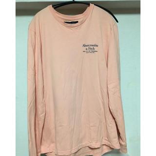 アバクロンビーアンドフィッチ(Abercrombie&Fitch)のアバクロ ロンT ピンク L(Tシャツ/カットソー(七分/長袖))