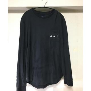 アバクロンビーアンドフィッチ(Abercrombie&Fitch)のアバクロ ロンT 黒 L(Tシャツ/カットソー(七分/長袖))