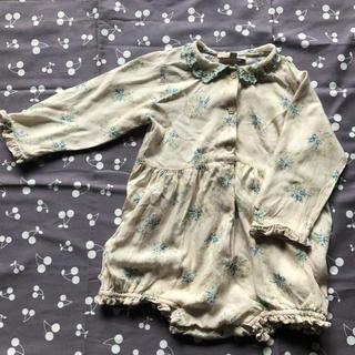 Caramel baby&child  - キャラメルベビー 花柄ロンパース 18m