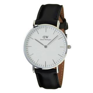 ダニエルウェリントン(Daniel Wellington)のDaniel Wellington Classic B40S6  黒革 シルバー(腕時計(アナログ))