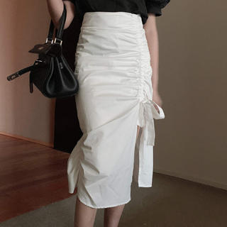 dholic - スリットリボン膝丈スカート