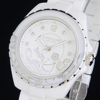 コーチ(COACH)の◆大感謝セール◆ コーチ 新品 レディース 腕時計 クリアホワイト 30M防水(腕時計)
