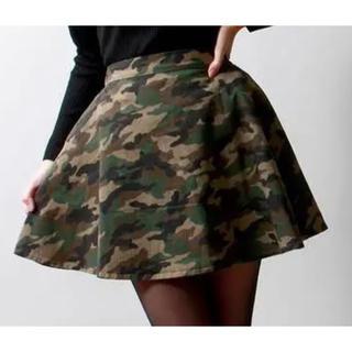 ウィゴー(WEGO)のwego 迷彩スカート(ひざ丈スカート)