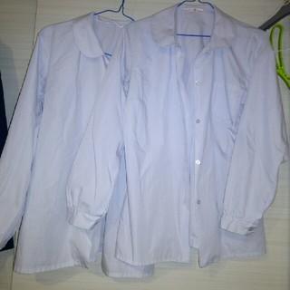 制服ブラウス2枚長袖女子高校生中学生