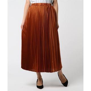 テチチ(Techichi)の定価 7590円!テチチ シャイニーツイルロングプリーツスカート[オレンジ](ロングスカート)