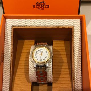 Hermes - エルメス  時計 クリッパー ゴールド×シルバーコンビ ホワイト文字盤