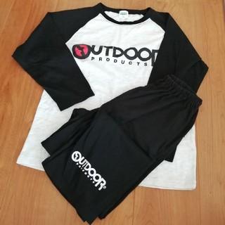 アウトドア(OUTDOOR)のOutdoor グレー✕ブラック 薄手セット 140(パジャマ)