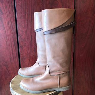 ローズバッド(ROSE BUD)のローズバッド購入 本革 ぺたんこ ロングブーツ 23cm rosebud(ブーツ)
