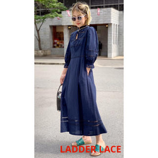 Ameri VINTAGE - 新品 ソロブ solov LADDER LACE BOHEMIAN DRESS