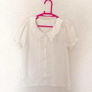 アンクルージュ(Ank Rouge)のアンクルージュ 半袖 白 ブラウス(シャツ/ブラウス(半袖/袖なし))