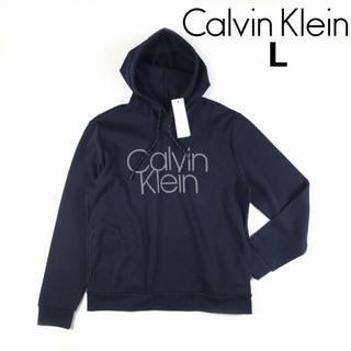 カルバンクライン(Calvin Klein)のカルバンクライン パーカー スウェット US限定 CK (L)紺 181215(パーカー)