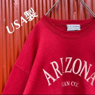 アリゾナ(ARIZONA)の☆USA製☆アリゾナ☆刺繍ロゴデザイン☆プルオーバースウェット(スウェット)