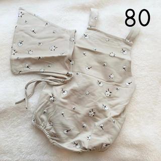 韓国子供服 コットン柄 ロンパース 80