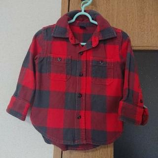 ギャップ(GAP)のGAP チェックシャツ90とバーバリーグレーシャツ(ブラウス)