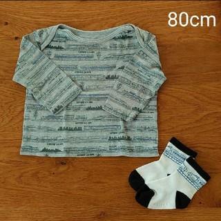 コムサイズム(COMME CA ISM)のCOMME CA ISM/長袖Tシャツ 靴下 セット 80cm(Tシャツ)