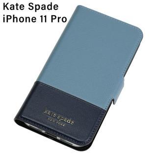 ケイトスペードニューヨーク(kate spade new york)の【KateSpade】ケイトスペード iPhone11Pro手帳型ケース ブルー(iPhoneケース)