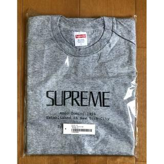 Supreme - 新品 シュプリーム ロゴ 半袖 Tシャツ Lサイズ グレー