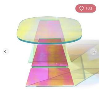 フランフラン(Francfranc)の【引取限定】Francfranc イーリスコーヒーテーブル ガラステーブル(ローテーブル)