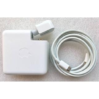 マック(Mac (Apple))の【美品】電源アダプタ Apple製純正品 87W USB-Cケーブル(PC周辺機器)