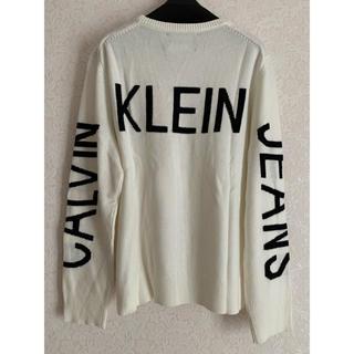カルバンクライン(Calvin Klein)の⭐️新品タグ付き⭐️カルバンクライン バックロゴニット XL(ニット/セーター)