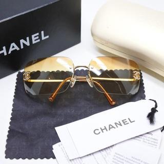 CHANEL - CHANEL シャネル サングラス ヴィンテージ 4017 オレンジ ブラウン