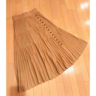 フレイアイディー(FRAY I.D)のFRAY. I.D ウールプリーツスカート 未使用(ロングスカート)