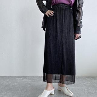 ジーナシス(JEANASIS)のシャイニープリーツナロースカート(ロングスカート)