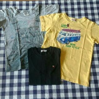 ミキハウス(mikihouse)の《120》Tシャツ 3枚セット まとめ売り(Tシャツ/カットソー)