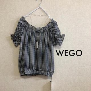 ウィゴー(WEGO)のWEGO Dukkah ⭐️新品⭐️ ギャザーオフショルダー ギンガムチェック(シャツ/ブラウス(半袖/袖なし))