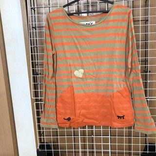 ツモリチサト(TSUMORI CHISATO)のツモリチサトcatsキャッツ ボーダーロンT 長袖Tシャツ猫(Tシャツ(長袖/七分))