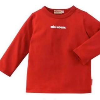 ミキハウス(mikihouse)の❌ 120 新品 ミキハウス 長袖Tシャツ ロゴ(Tシャツ/カットソー)
