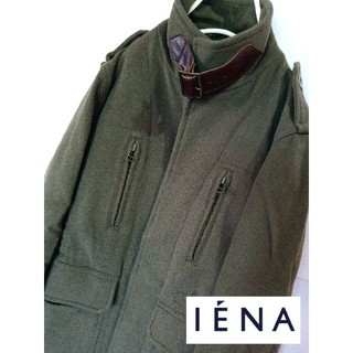 イエナ(IENA)のIENA  ミリタリージャケット カシミヤ混 中綿キルティング FREESIZE(ミリタリージャケット)