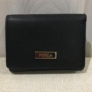 フルラ(Furla)のFURLA フルラ 三つ折りミニ財布 ブラック(財布)