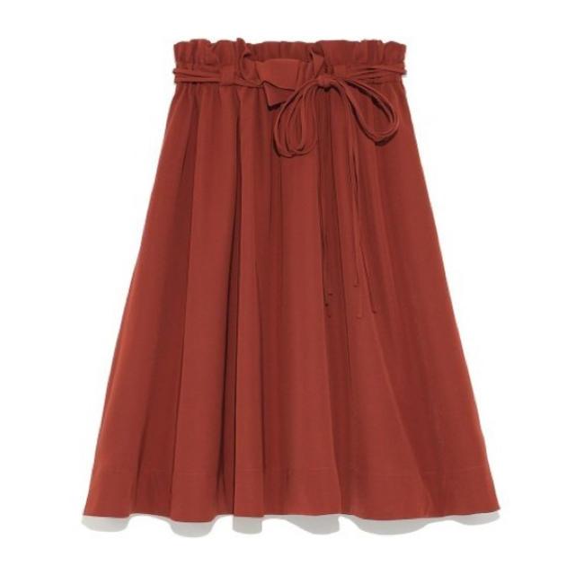 snidel(スナイデル)のsnidel ウエストリボンギャザースカート レディースのスカート(ひざ丈スカート)の商品写真