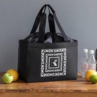 KINOKUNIYA 保冷ができるショッピングバッグ black