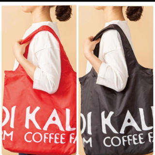 KALDI - 新品 カルディ エコバッグ黒、赤