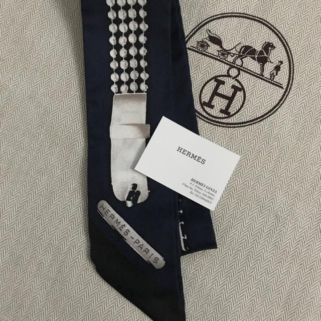 Hermes(エルメス)の新作エルメスツイリーLe Tresor de Medor ネイビー レディースのファッション小物(バンダナ/スカーフ)の商品写真