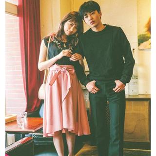 ミーア(MIIA)のMIIA♡ピンクフレアスカート(ひざ丈スカート)