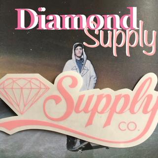 スラッシャー(THRASHER)のダイアモンドSupply US限定 カンパニー スタイリッシュロゴ ステッカー(スケートボード)