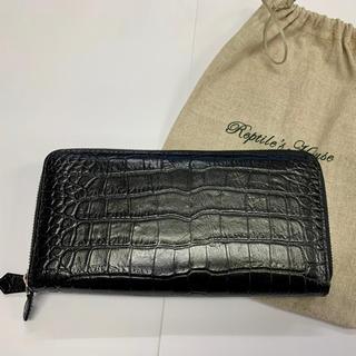日本製 牛革長財布 未使用新古品 ブラック(長財布)