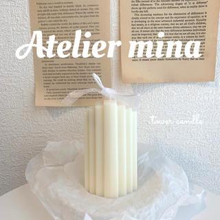 < handmade > tower candle