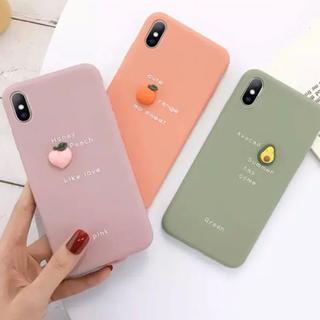 iPhone 7p/8p ケース アボカド ピーチ オレンジ くすみカラー