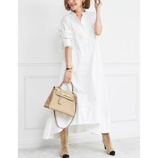 OBLI フレアシャツワンピース フレアワンピ ワンピース ワンピ ドレス(ロングワンピース/マキシワンピース)