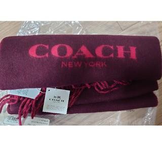 コーチ(COACH)のcoach COACH マフラー 赤(マフラー/ショール)